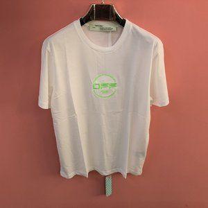 Off-White Chest Neon Green Logo White T-Shirt XXL
